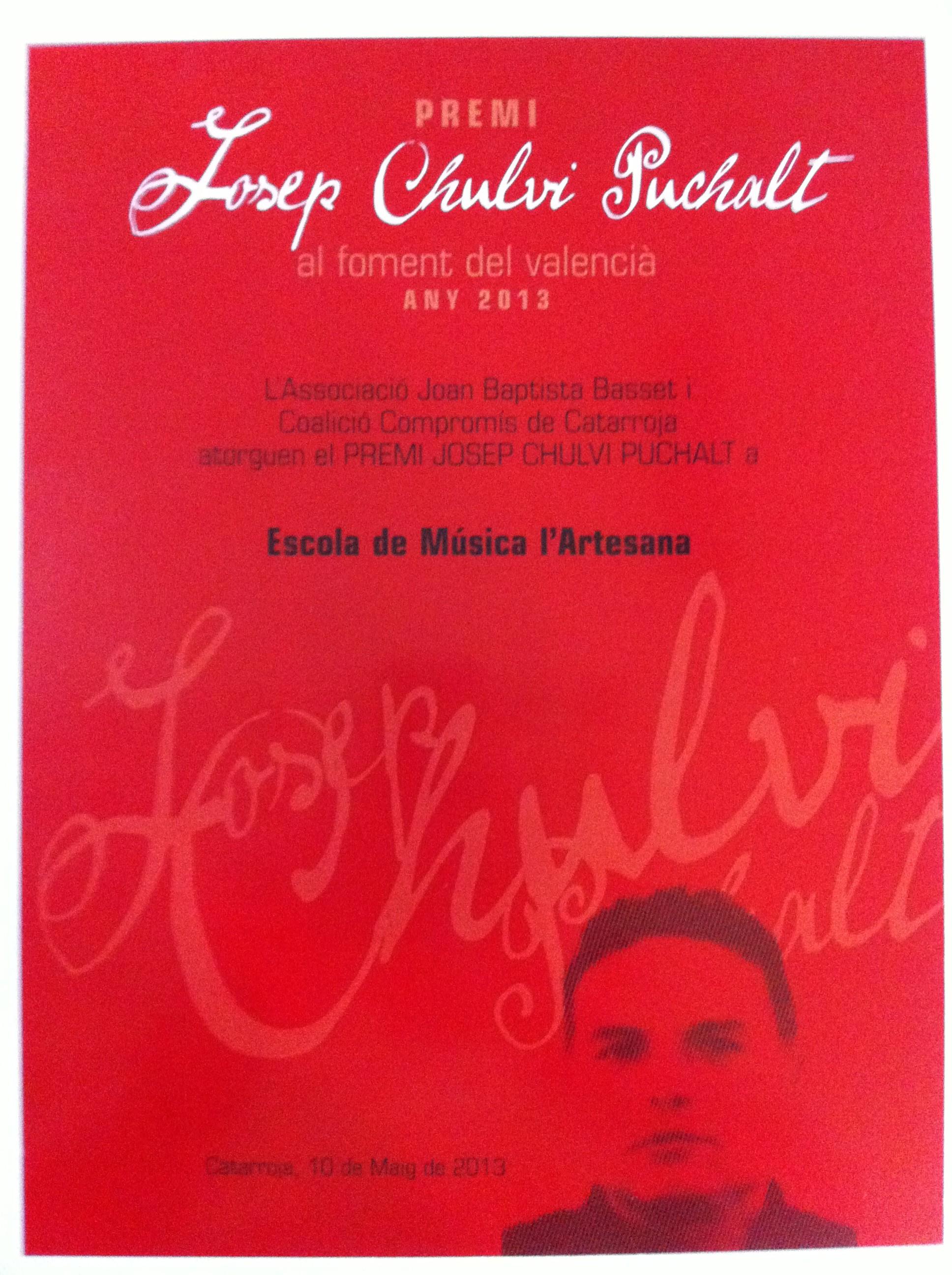 Premi Josep Chulvi Puchalt