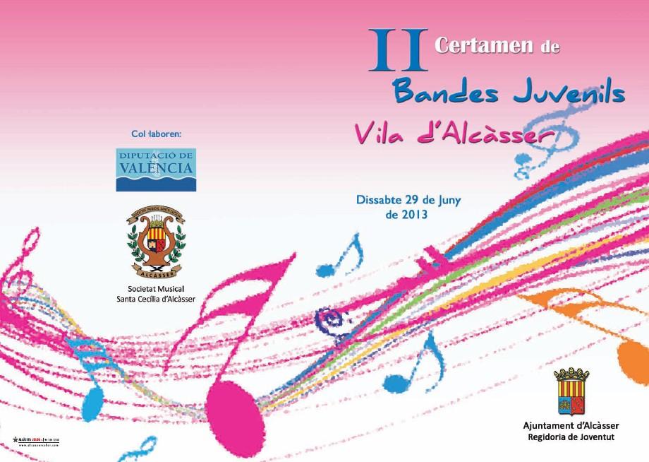 La Banda Juvenil guanyadora del 2n premi del Certamen d'Alcàsser
