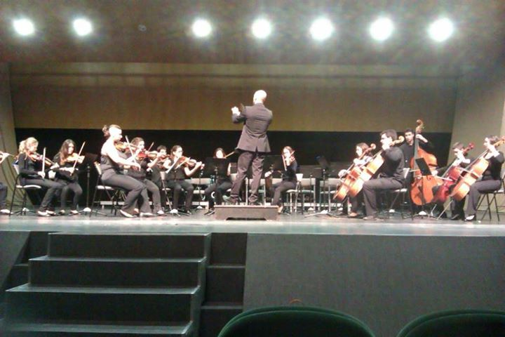 Un moment de la intervenció de la Orquestra de l´Artesana