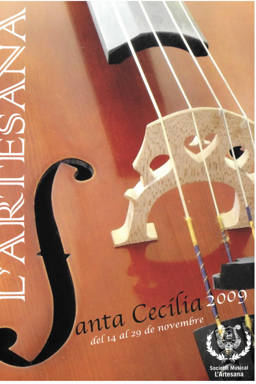 LLIBRET SANTA CECILIA 2009