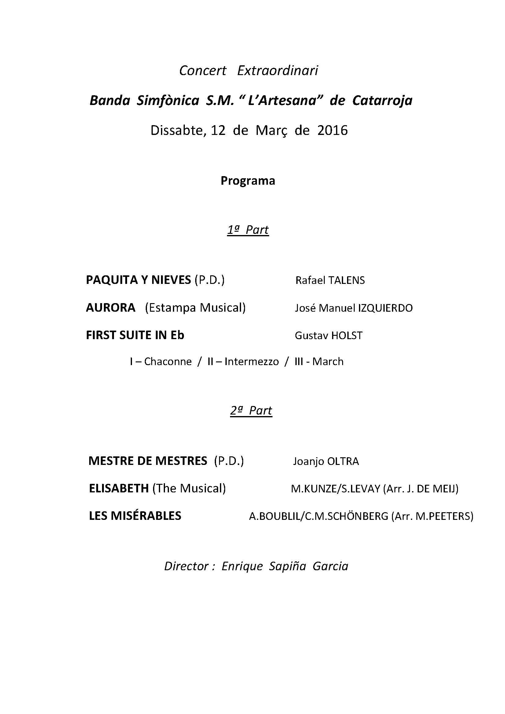 Programa Artesana 12 Març 2016